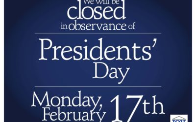 We're Closed for President's Day